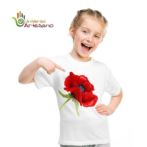 Cotton T-shirt for kids hand painted | Universo Artesano | Peru