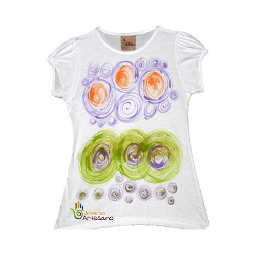 Girl T-shirt pima cotton, hand painted | Universo Artesano | Peru