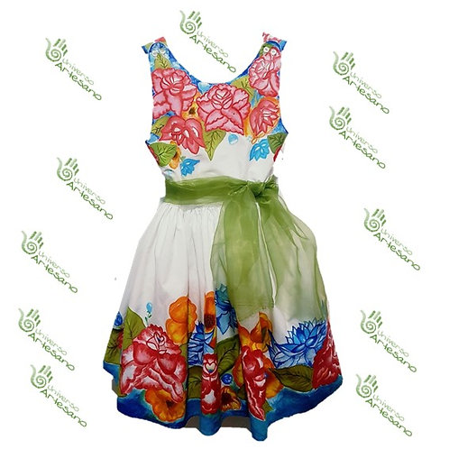 handpainted dress 100% cotton | Universo Artesanoo | Peru