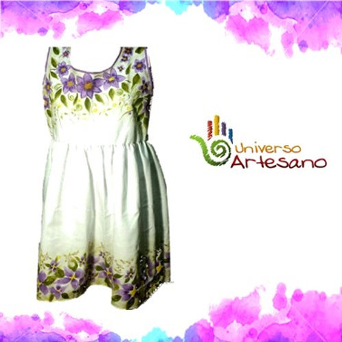 Luxury Hand-painted Girl dress | Universo Artesano | Peru