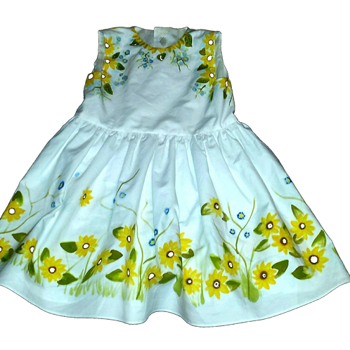 Luxury Hand-painted dress for girl | Universo Artesano | Peru
