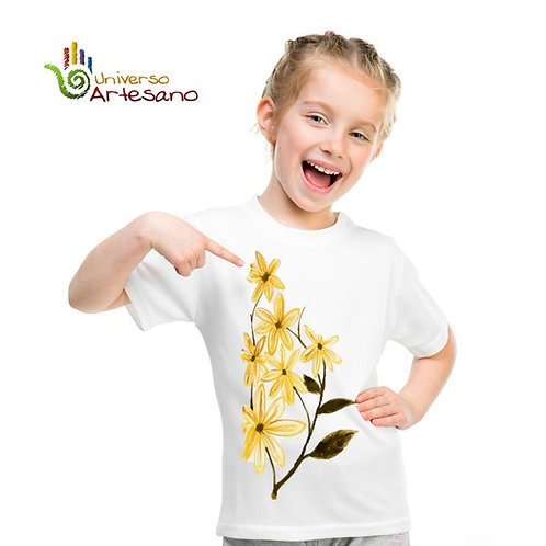 Cotton T-shirt hand painted | Universo Artesano | Peru