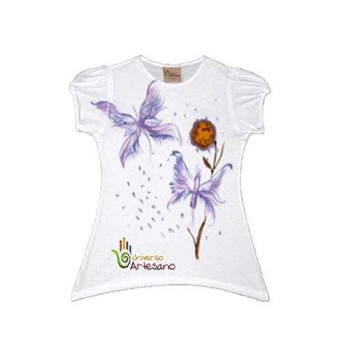Girl T-shirt pima cotton, hand painted | Universo Artesano | Peru
