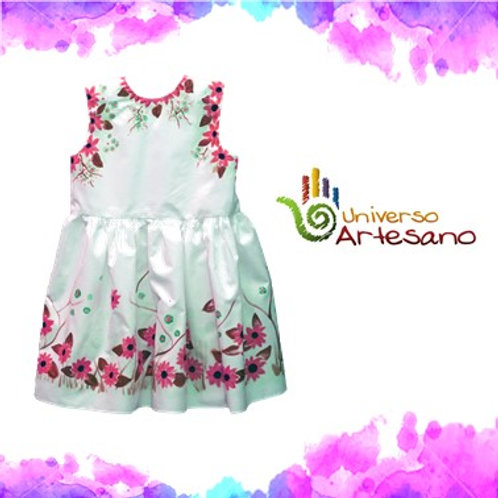 Hand-painted girl dress | Universo Artesano | Peru