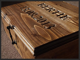 Hand carved personalised memory box