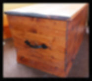 Solid wood hand made blanket box