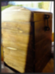 Hand made wine box with dovetail joints