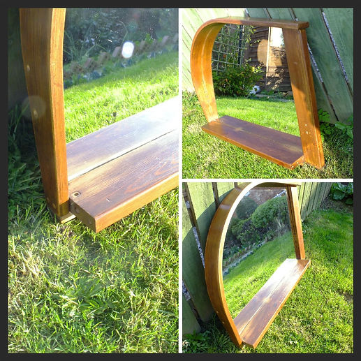 Hand made mirror from reclaimed wood