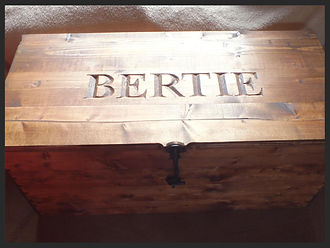 Hand carved personalised toy box