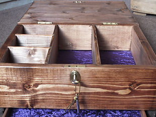 Hand made locking jewellery box, single drawer, dovetail joints