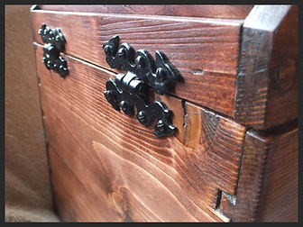 Hand made treasure box, with dovetail joints and snake hinges