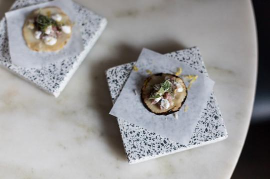a Taco of Salt Bake Turnip