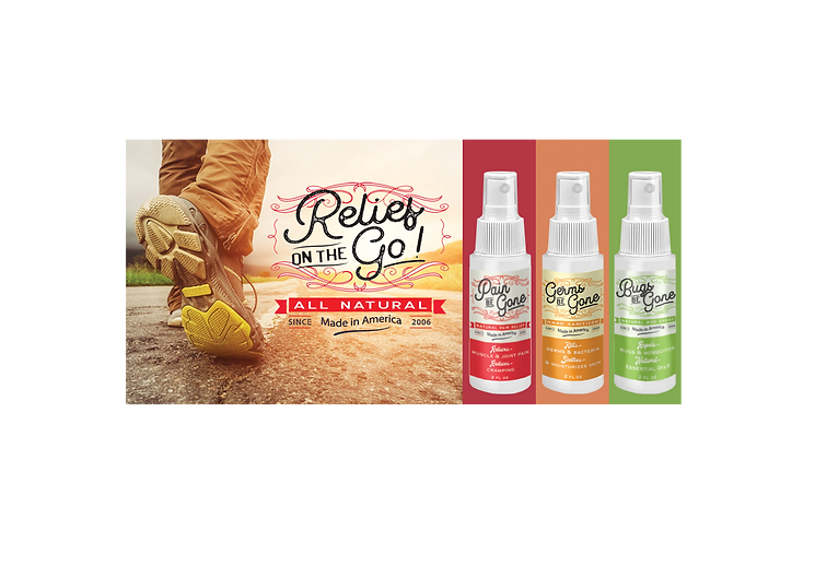 new relief on the go products banner