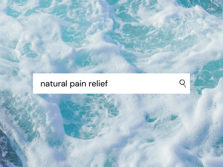 All-natural pain relief? Yes, please!