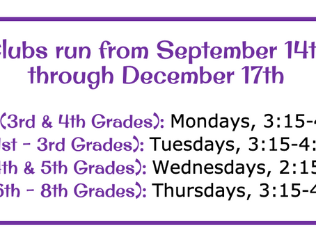 Join usfor Mathitude's Fall Clubs!