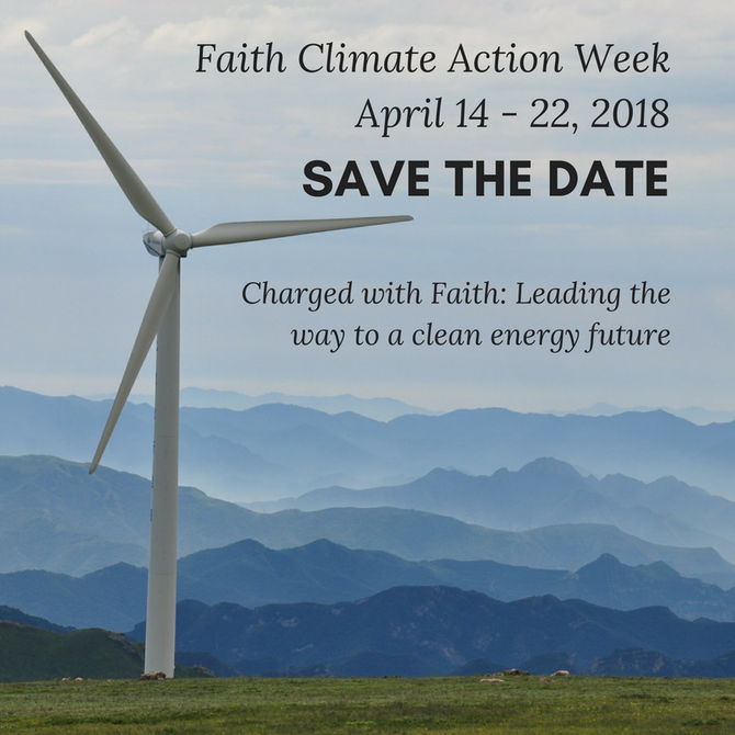 Faith Climate Action Week Calls to Protect our Climate