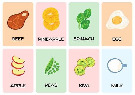 Food Flashcard Sheet 2