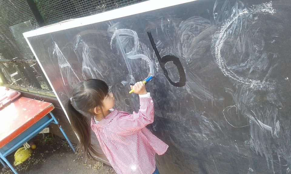 Middleton Play area blackboard