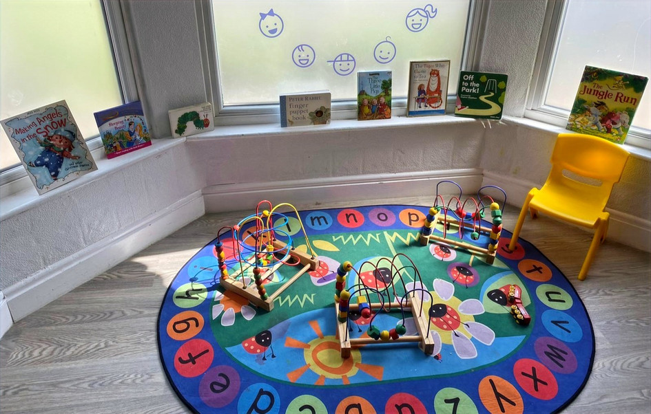 Blackley interactive toys and reading corner