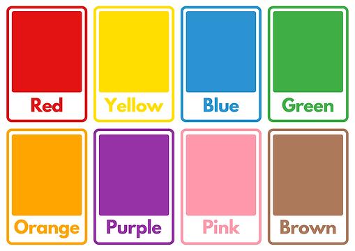 Colours Flashcard Sheet