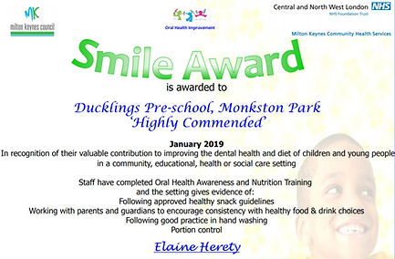 Smile Award Certificate