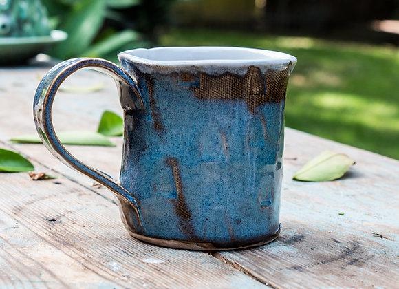 Variable Textured Blue Mug