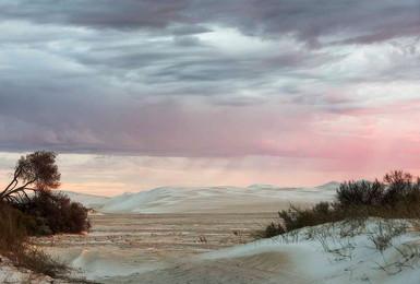 Sunrise Rain Among the Dunes
