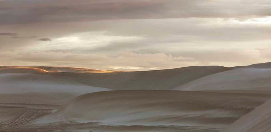 First Rays Over The Dunes