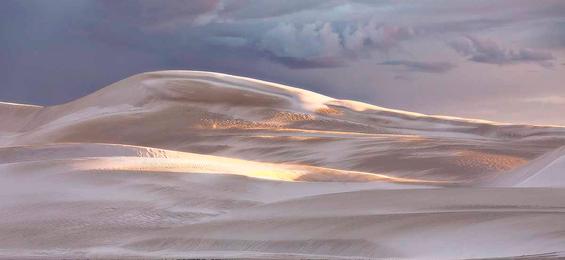 Morning Light Over Dunes