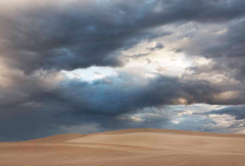 Stormy Sky Over the Dunes