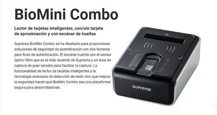 Dydex-HS,Biometría,Suprema,Colombia,Biometrics,Biometria,Fingerprint Reader
