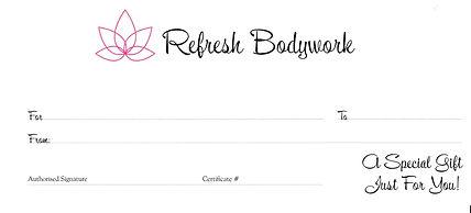 Refresh Bodywork Hard Copy Gift Certificate
