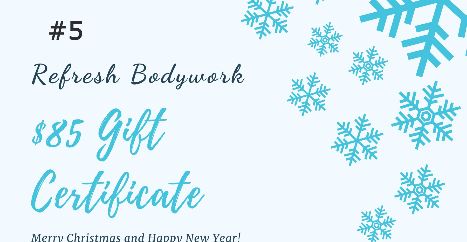 Blue Snowflakes Christmas Gift Certifica