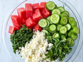 Herbed Watermelon Feta Summer Salad