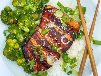 Quick & East Teriyaki Salmon Bowl + How to Make the Crispiest Salmon Ever!
