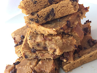 Vegan, Gluten-Free, Oil-Free, Dairy-Free Chocolate Chip Chickpea Blondies