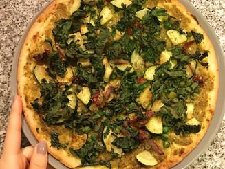 Pesto and Kale Cauliflower Pizza