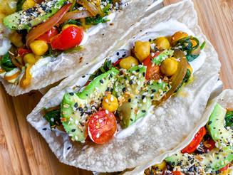 Everything Bagel Veggie Tacos