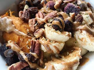 Crunchy Almond Butter Sweet Potato Breakfast Bowl