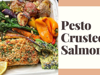 EASY PESTO CRUSTED SALMON RECIPE | my most popular recipe