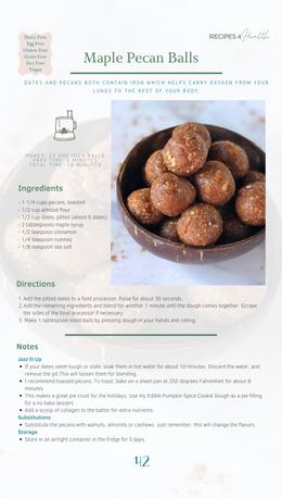 Maple Pecan Balls