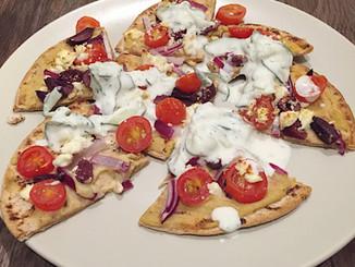 Mediterranean Pizza Bites w/ Tzatziki Sauce