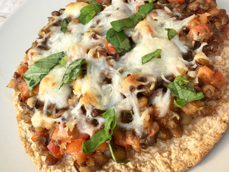 Lentil Bruschetta Pizza