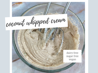 3 ingredient Coconut Whipped Cream