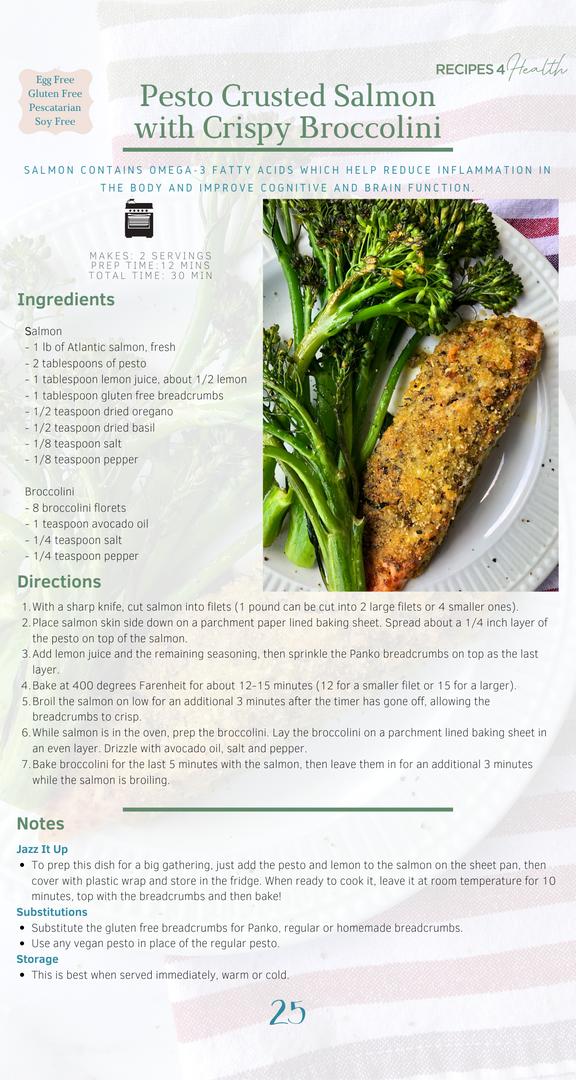 Pesto Crusted Salmon Recipe Page