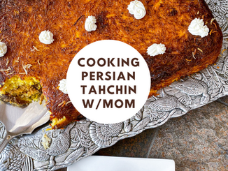 HOW TO MAKE TAHCHIN WITH MY PERSIAN MOTHER | best crispy saffron rice cake (with video)