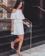 Blush Cold Shoulder Dress