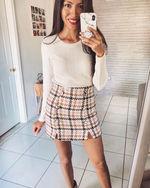 houndstooth skirt
