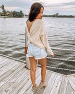 Twist Back Sweater