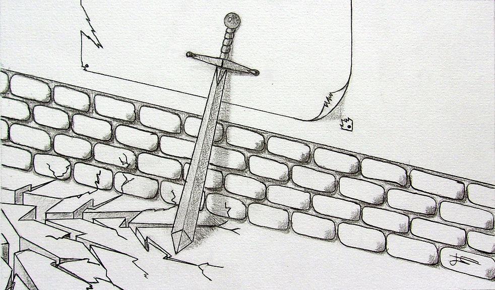 Illustration épée Le combat des âmes